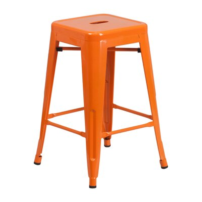 24 Bar Stool Finish: Orange
