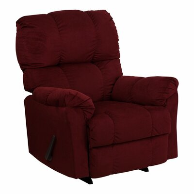 Wenonah Top Hat Manual Rocker Recliner Upholstery: Berry