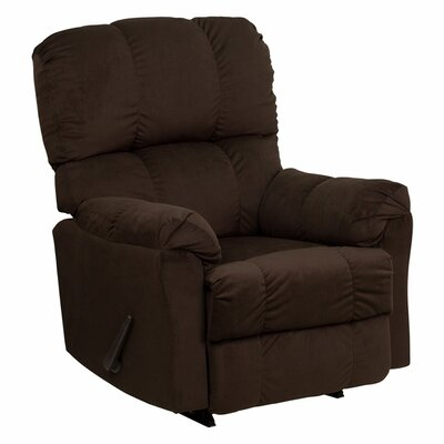 Wenonah Top Hat Manual Rocker Recliner Upholstery: Chocolate
