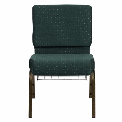 Taylor Extra Wide Dot Patterned Guest Chair Seat Color: Hunter Green