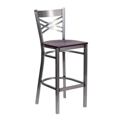 Anissa 9 Bar Stool Finish: Mahogany