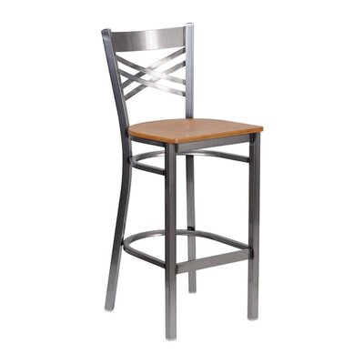 Anissa 9 Bar Stool Finish: Natural