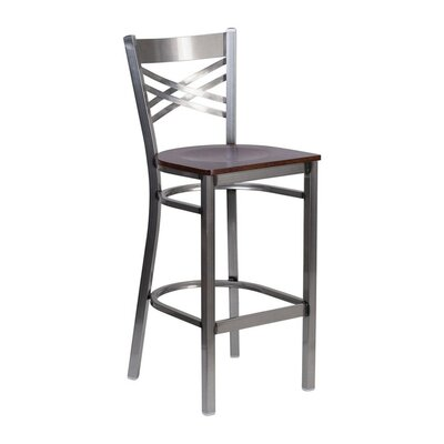 Anissa 9 Bar Stool Finish: Walnut