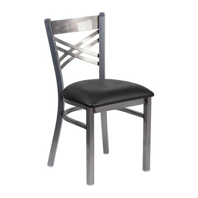 Anissa X Back Dining Chair Seat Color: Black