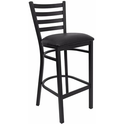 Dryden Modern 31 Bar Stool with Cushion Upholstery: Black