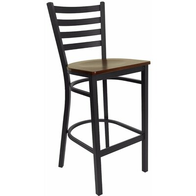 Dryden 32 Bar Stool Finish: Mahogany