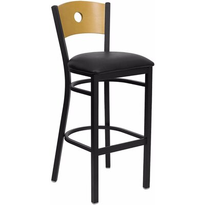 Dryden 32 Bar Stool with Cushion Upholstery: Black