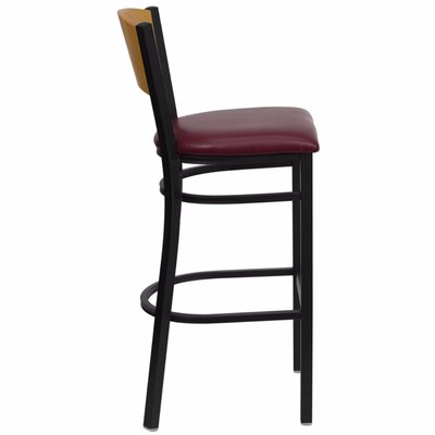 Dryden 32 Bar Stool with Cushion Upholstery: Burgundy