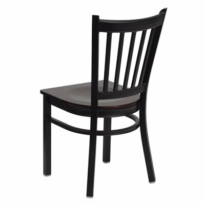 Anissa Vertical Back Metal Restaurant Dining Chair