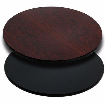 Agawam Reversible Laminate Round Large Table Top Finish: Black/Mahogany
