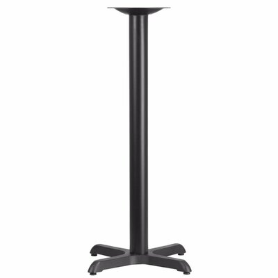 Ahoghill Restaurant Bar Height Column X Table Leg Size: 30 H x 30 W x 30 D