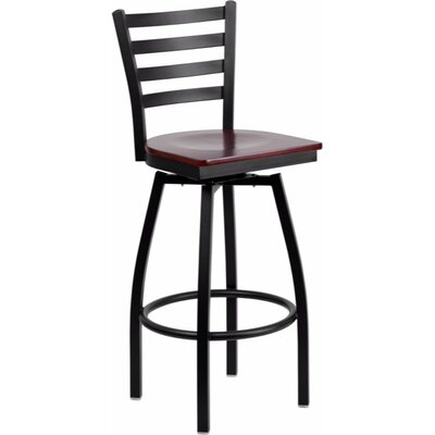 Dryden Modern 30.25 Swivel Bar Stool Finish: Mahogany