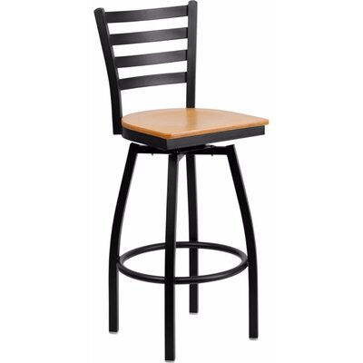 Dryden Modern 30.25 Swivel Bar Stool Finish: Natural