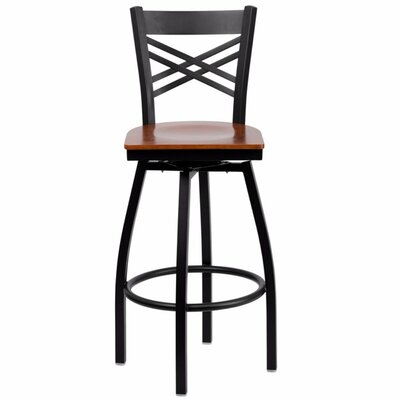 Dryden 30.25 Swivel Bar Stool Finish: Cherry