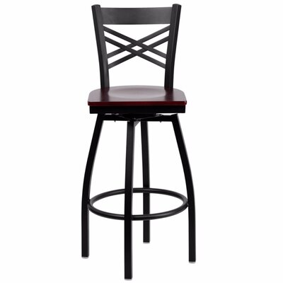 Dryden 30.25 Swivel Bar Stool Finish: Mahogany