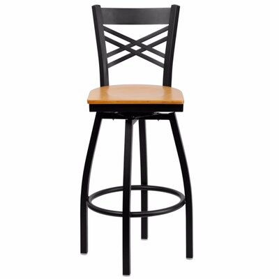 Dryden 30.25 Swivel Bar Stool Finish: Natural