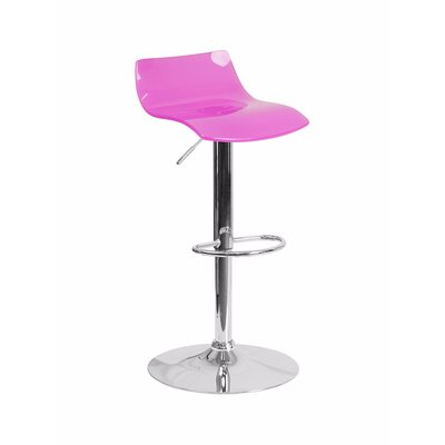 Aguon Adjustable Height Swivel Bar Stool Color: Hot Pink