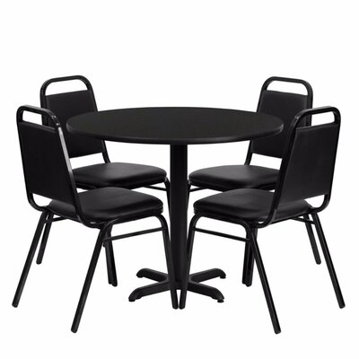 Villa Milagro Restaurant Laminate 5 Piece Dining Set Finish: Black