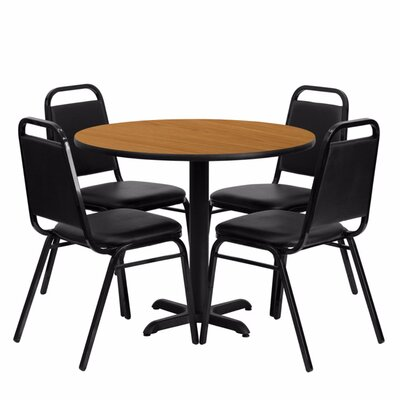 Villa Milagro Restaurant Laminate 5 Piece Dining Set Finish: Black/Natural
