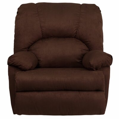 Amandes Contemporary Microfiber Suede Rocker Recliner Upholstery : Chocolate