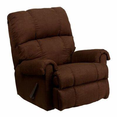 Lowellville Contemporary Microfiber Rocker Recliner Upholstery: Brown