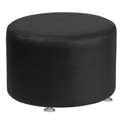 Acord Leather Ottoman Upholstery: Black