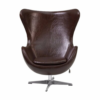 Tod Leather Swivel Lounge Chair