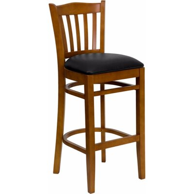 Ellinor 31 Bar Stool Upholstery: Cherry/Black