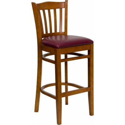 Ellinor 31 Bar Stool Upholstery: Cherry/Burgundy