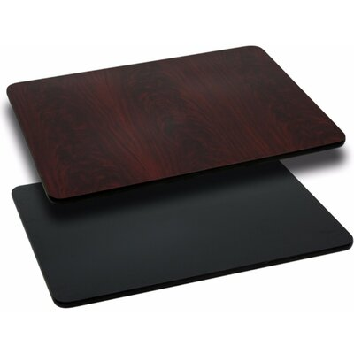 Rectangular Reversible Laminate Size: 1.125 H x 24 W x 30 D