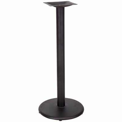 Restaurant Table Base with Bar Height Column Size: 3 H x 18 W x 18 D