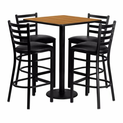 Pinckneyville 5 Piece Pub Table Set