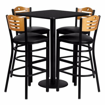 Plattville 5 Piece Pub Table Set