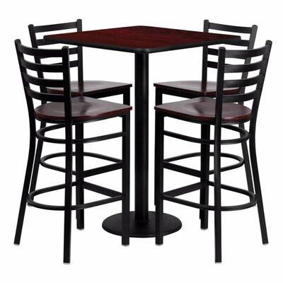 Portia 5 Piece Pub Table Set