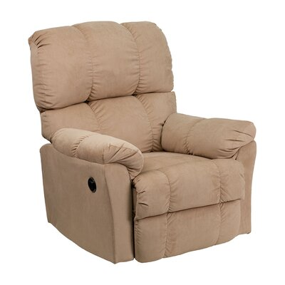 Quinton Top Hat Coffee Microfiber Power Recliner