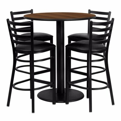 Raabe 5 Piece Pub Table Set