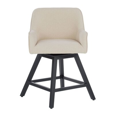 Trotta Swivel Bar Stool Seat Color: Beige