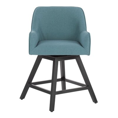 Trotta Swivel Bar Stool Seat Color: Blue