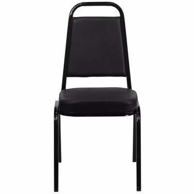 Hercules Series Trapezoidal Banquet Chair Seat Color: Black, Frame Finish: Black