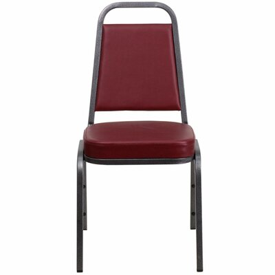 Hercules Series Trapezoidal Banquet Chair Seat Finish: Burgundy, Frame Finish: Silver Vein