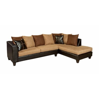 Winburn Sectional Upholstery: Brown