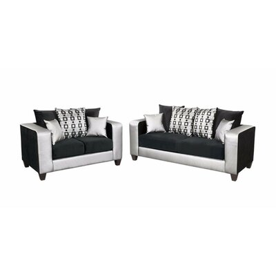 Winburn Velvet 2 Piece Living Room Set