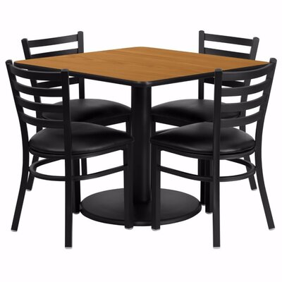 Umberger 5 Piece Pub Table Set Tabletop finish: Natural