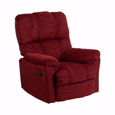 Heinrich Power Recliner Color: Red