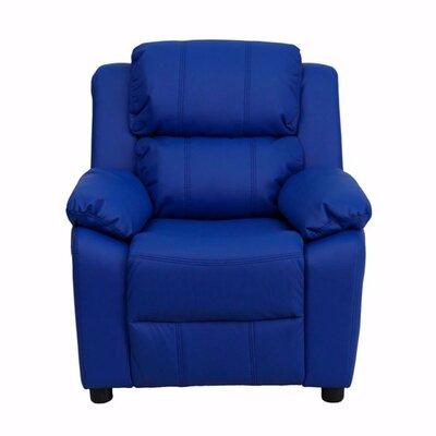 Heinz Deluxe Heavily Padded Recliner Upholstery: Blue