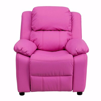 Heinz Deluxe Heavily Padded Recliner Upholstery: Pink