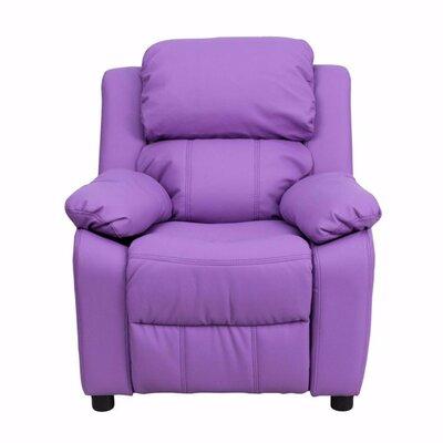 Heinz Deluxe Heavily Padded Recliner Upholstery: Lavender
