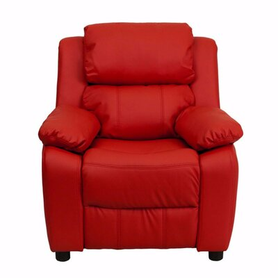 Heinz Deluxe Heavily Padded Recliner Upholstery: Red