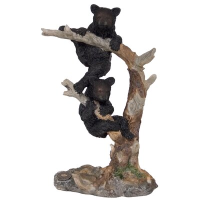Two Bear Cub Climbing Tree Figurine 95651