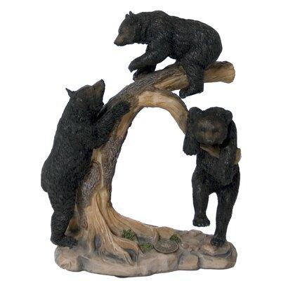 Three Bear Cub Climbing Tree Figurine 95652